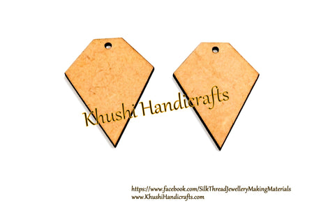 Designer MDF Earring Pendant /Key chain bases for Resin,Epoxy resin and Decoupage