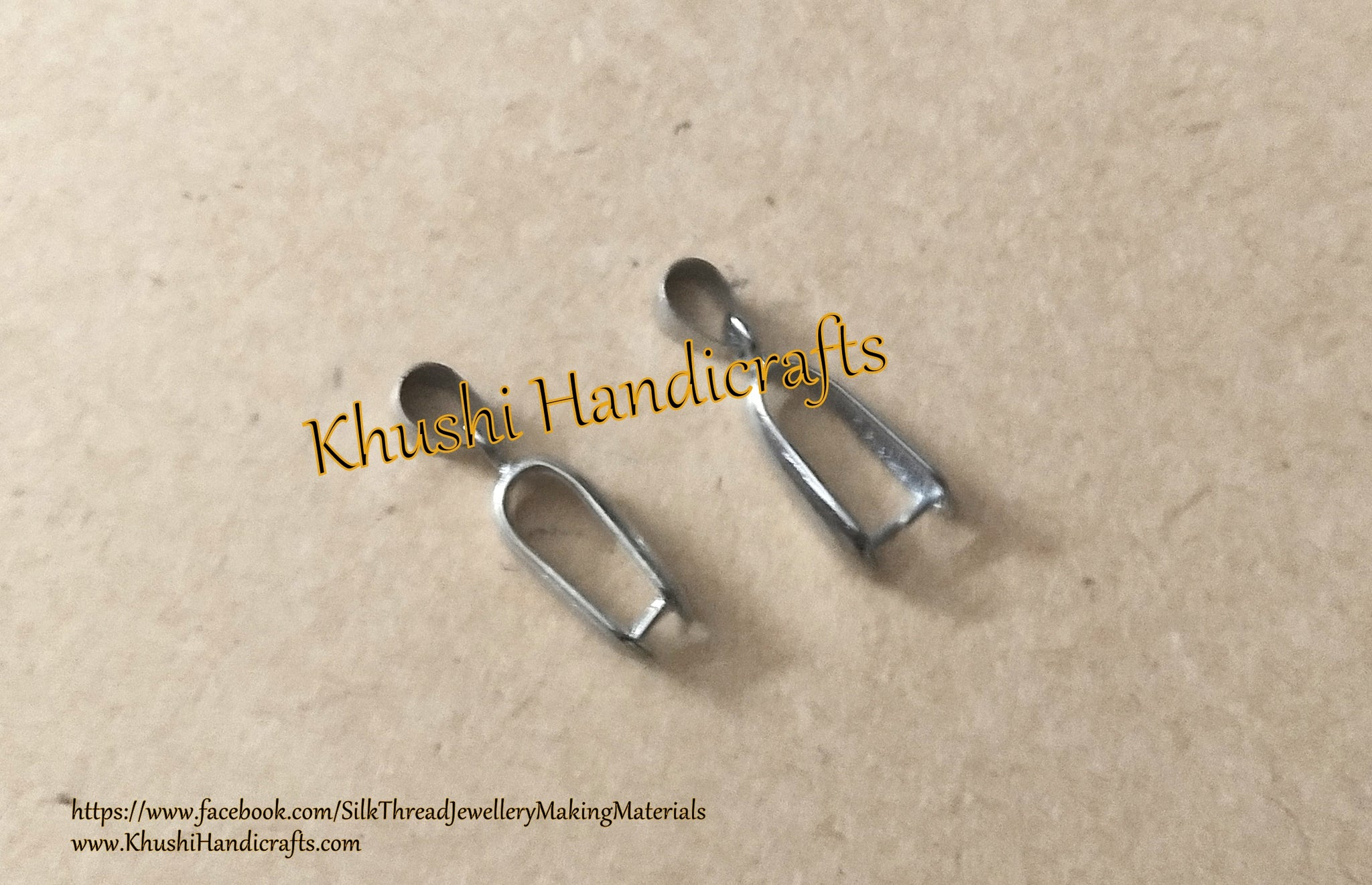 Silver Plated Pinch Bail Findings  for Resin crafts,Sold per pair!