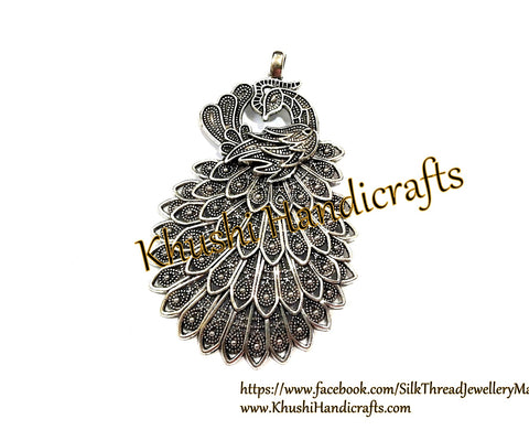 Antique Silver Designer Big Peacock Pendant .Sold per piece!
