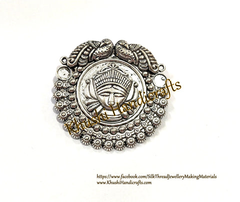 Antique Silver Durga Pendant .Sold per piece!