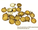 Gold coins for oxidized jewelry