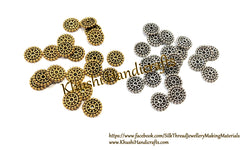 40 pieces Antique Gold  silver 12mm Metal Designer spacer Beads