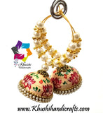 Quilling paper Jhumka Earrings