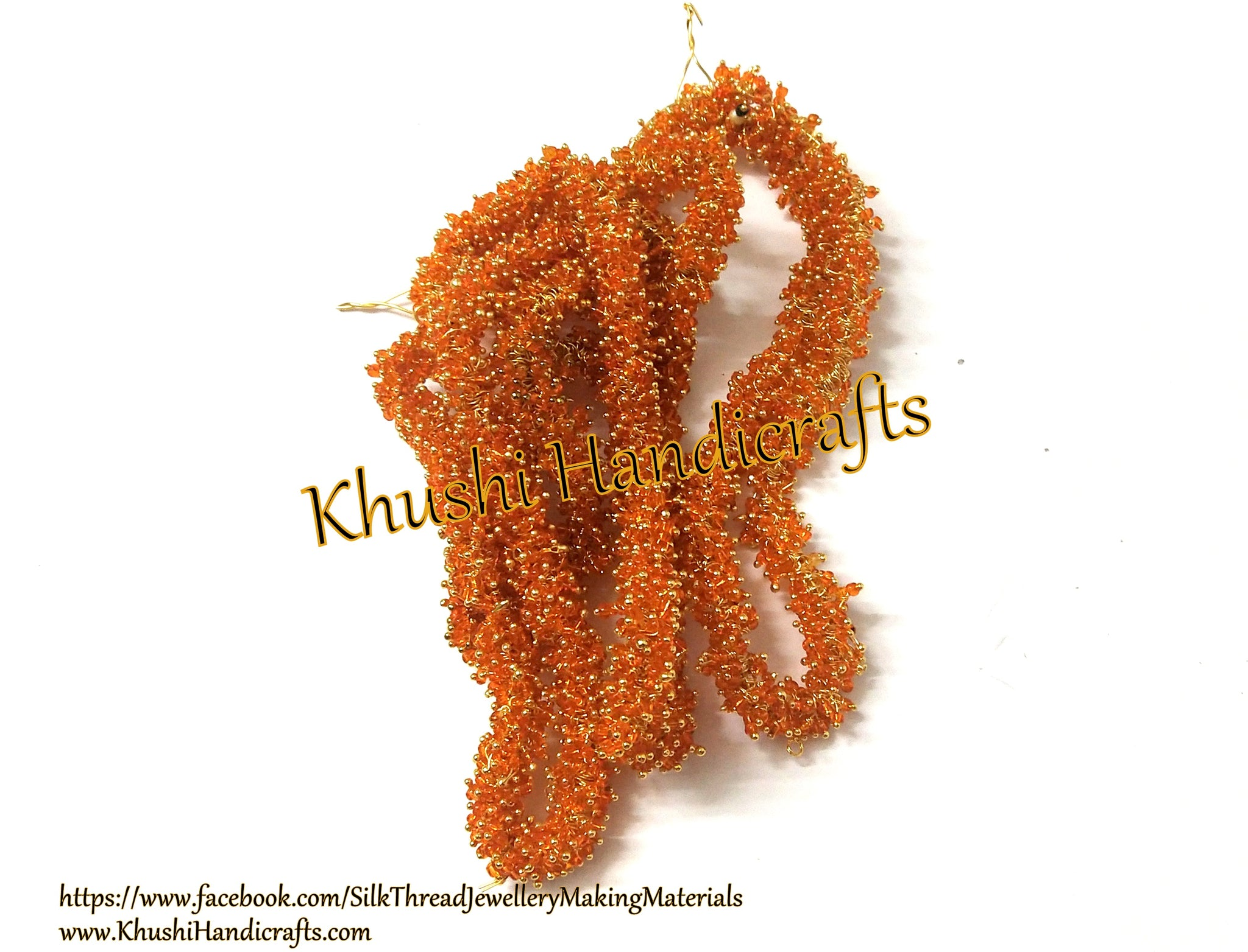 50 grams Orange Loreal /Loreals for Jewellery making