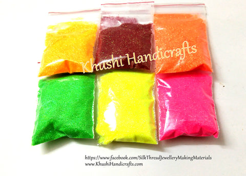 6 colour Neon Glitter Powder Combo for resin crafts!