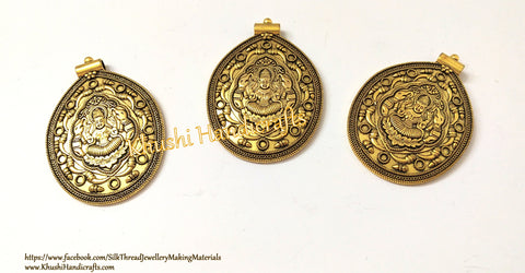 Antique Gold Designer Lakshmi Pendant P061