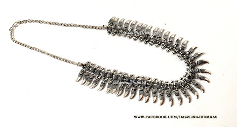 German silver Oxidised Neklace choker