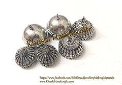 Combo of German Silver Jhumka Bases -Antique Silver Pattern 19. Sold as the set indicated!