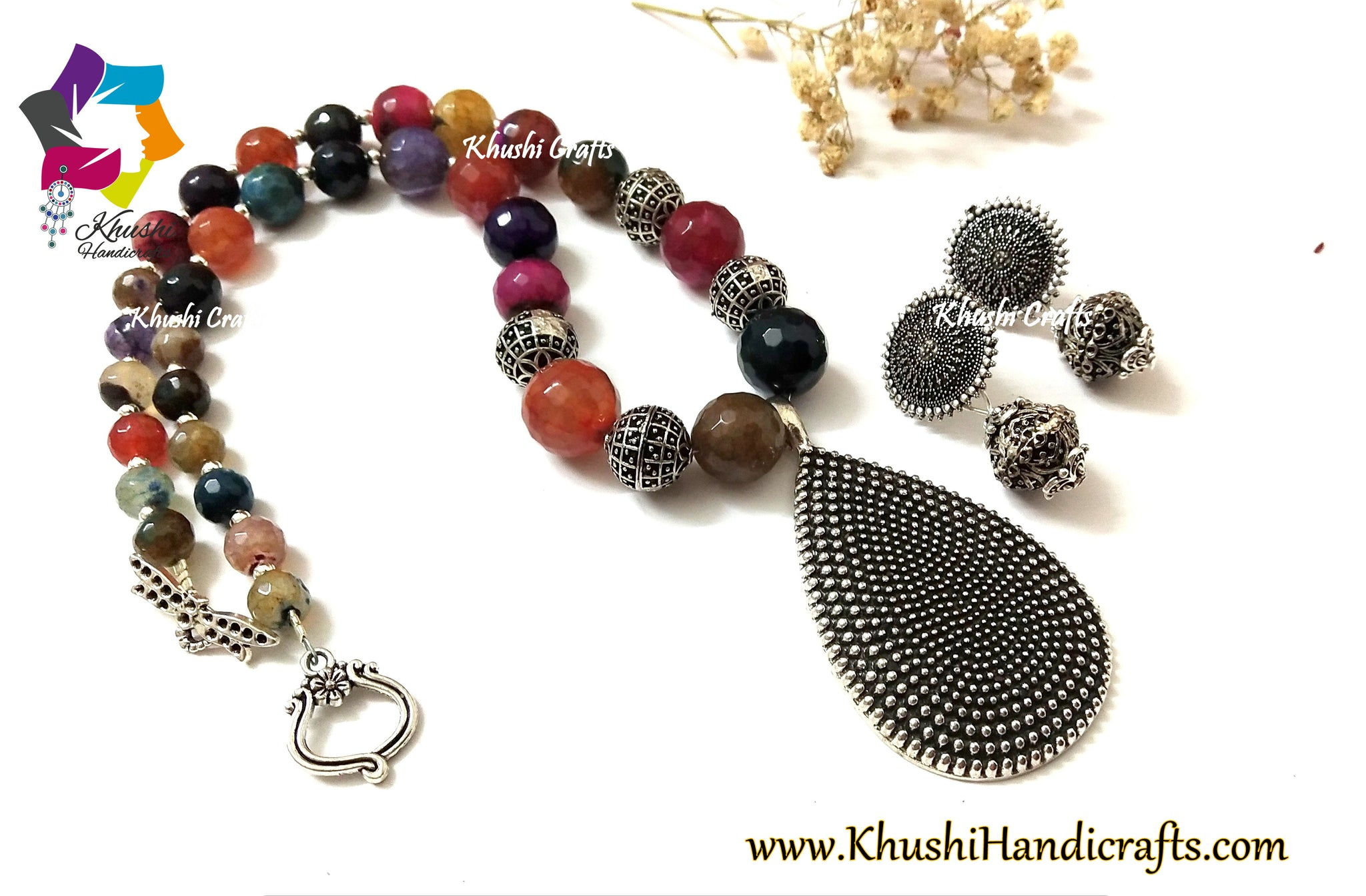 semiprecious gemstone necklace