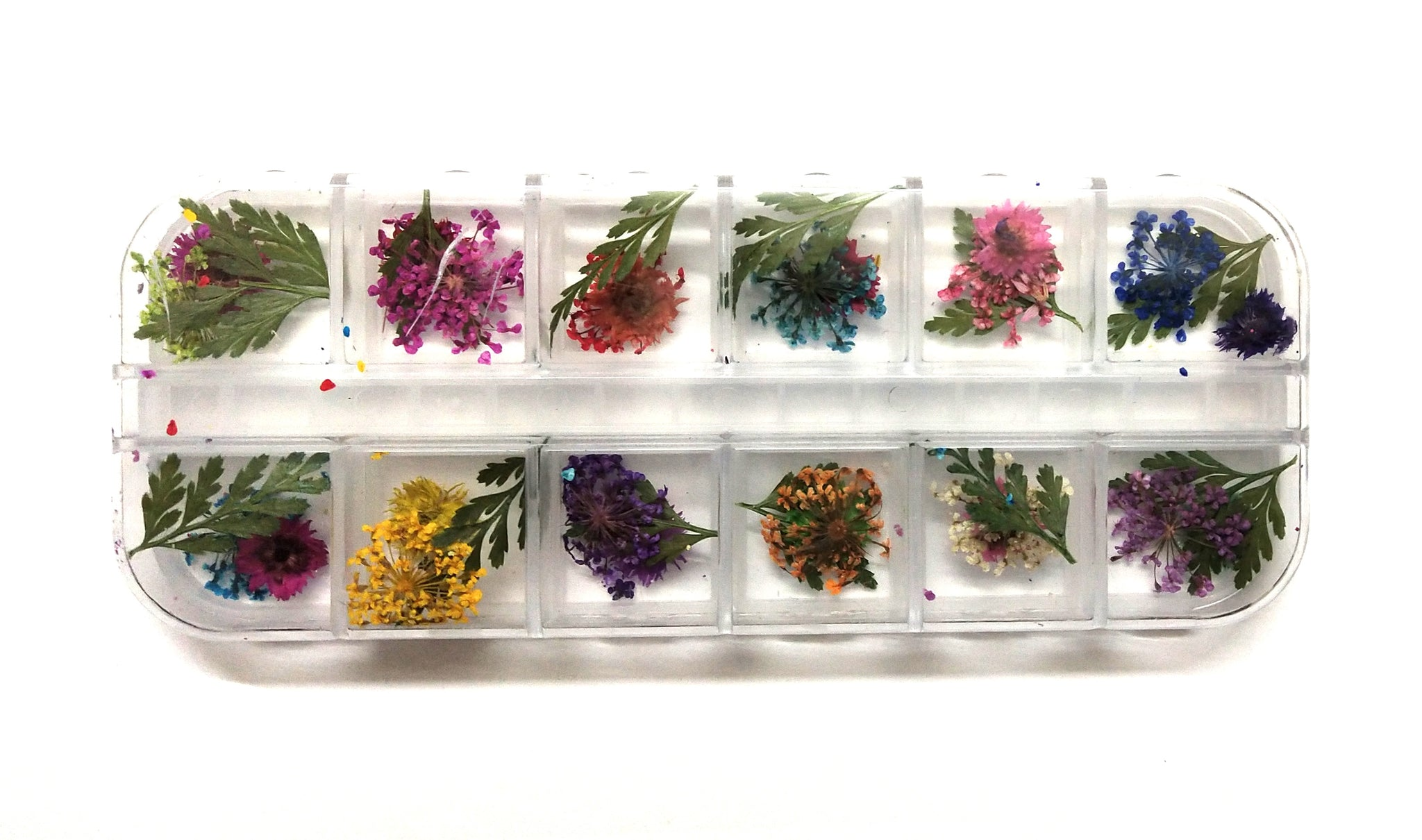 10 Colours Dry Pressed / Dried Assorted Natural Flowers For Resin Crafts, Jewelry Mold Filling and Nail Art