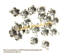 Antique Silver Flower charms.Pack of 20 pieces!