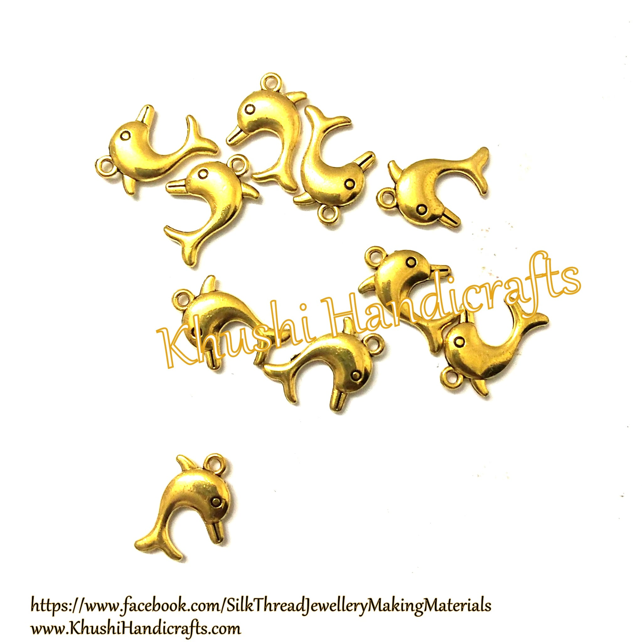 Dolphin charms.Pack of 10 pieces!