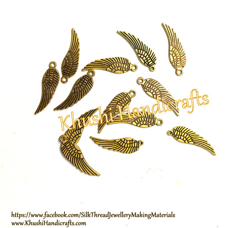 Angel wing charms.Pack of 20 pieces!
