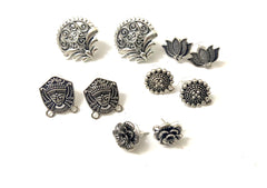 Antique Silver Studs Combo -Combo 3