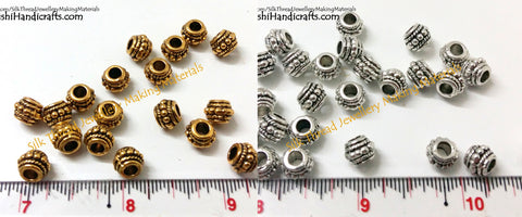 Designer Antique Gold and Silver spacer beads.Sold as a pack of 50 -SP16