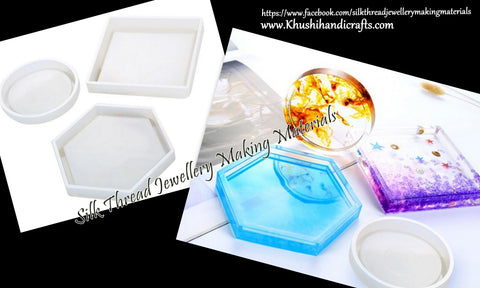 Resin Coaster Molds, Silicone Mould for Casting with Resin, Epoxy and Concrete