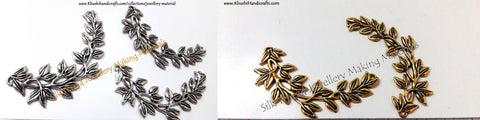 Antique Gold/Silver Multiple Leaf Pendant .Sold per piece!P09