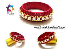 Silk thread Pearl Bangles