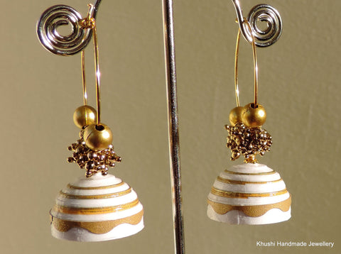 White and gold Jhumka