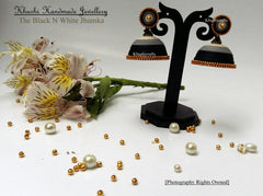 Black N White Quilled Jhumka