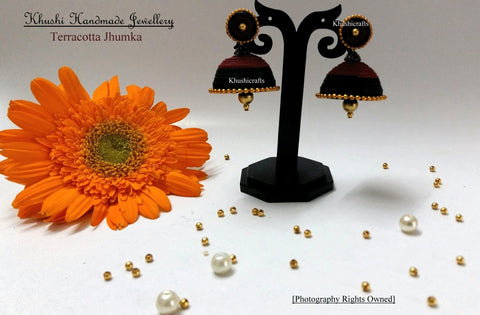Terracotta Quilled Jhumka