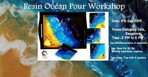 Resin Ocean Pour workshop