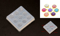 12mm Crystal Cluster Silicone Mold- DIY Resin Jewelry Craft Tool