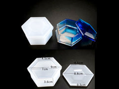Hexagon Storage Box Mold Silicone Mould