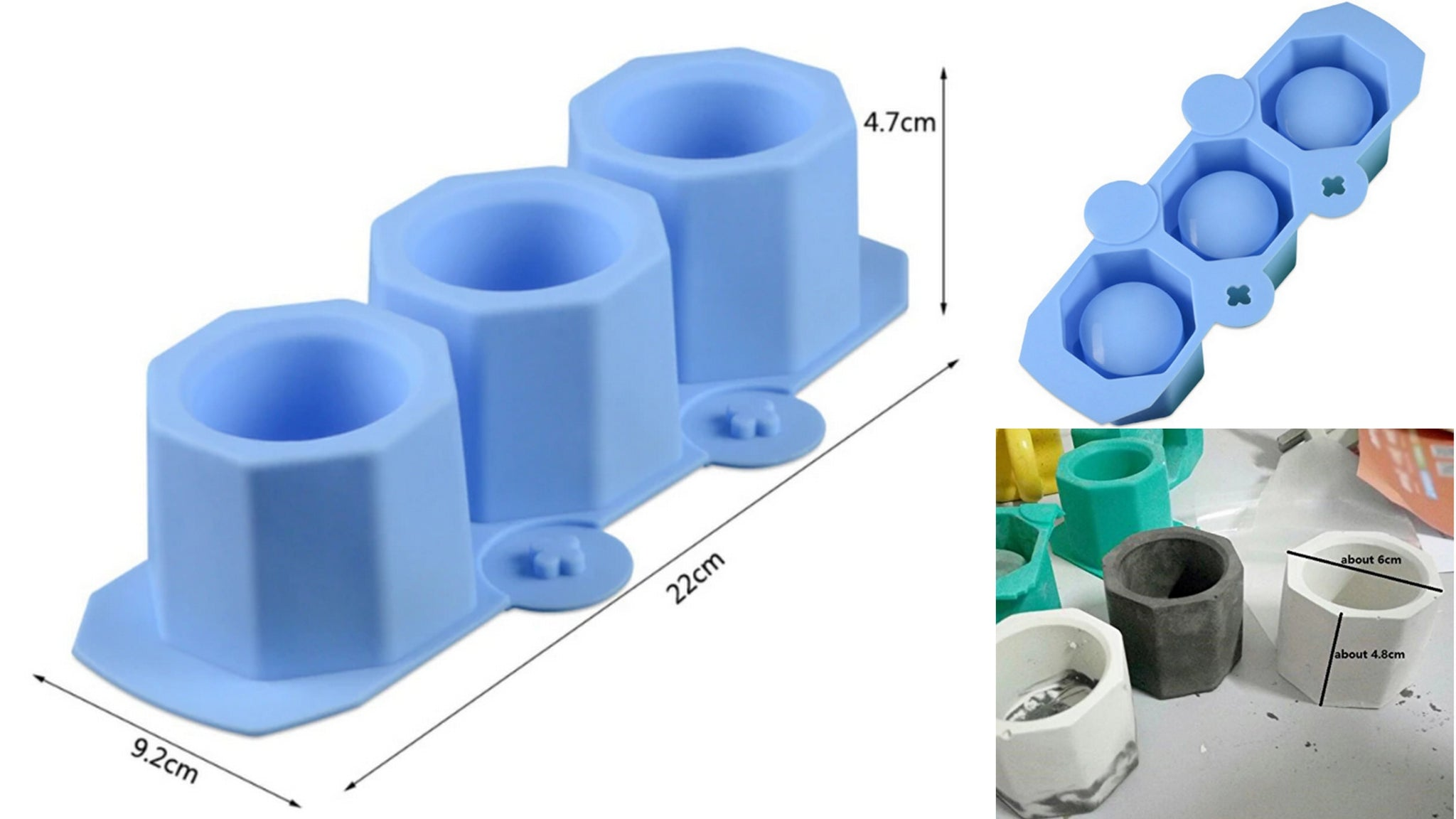 Flower Pot Plant holder Small Mould Silicone Mold for casting UV Resin,Epoxy resin and concrete