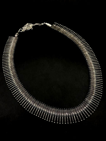 Oxidised German Silver Long haaram Necklace !