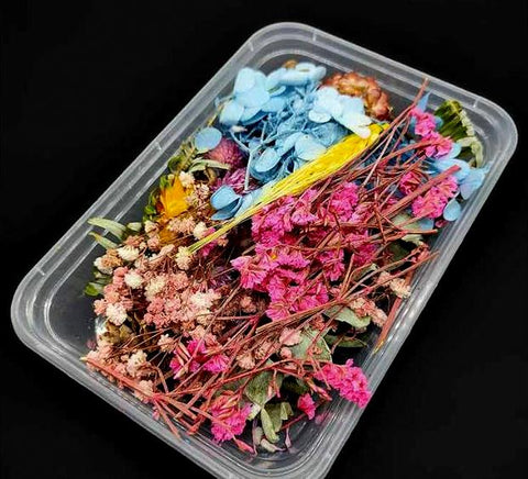 1 Box Assorted Dry Dried Natural Flowers For Resin Crafts, Jewelry Mold Filling and Nail Art
