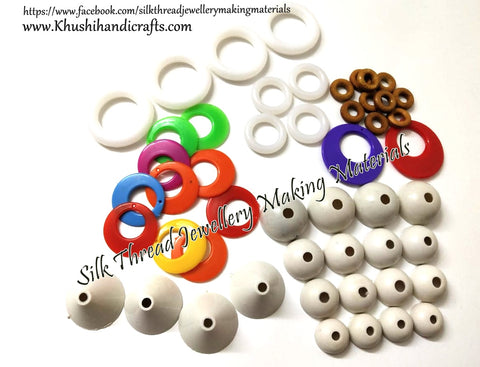 Silk Thread Earring base Jewellery Materials Kit 1-Detash Sale