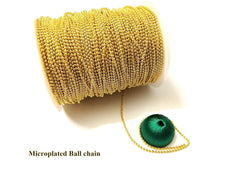 Full Roll Microplated Gold Ball Chain for Jewellery making (Approx 80-90 meters)