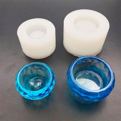 2 Pieces Small bowl containers Silicone Mold