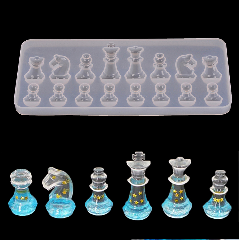 Chess shapes silicone mold