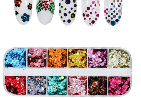 12 Sets Mixed Glitter designs For Resin Crafts ,Jewelry Mold Filling and Nail art.Set 6!