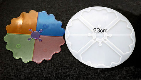 New design Agate Triangle Coaster Mould - Silicone Mold - Resin Mould Pattern 2