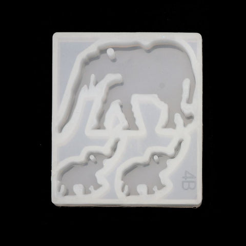 Elephant Earring Pendant Silicone Mold /Animal molds For Resin Crafts and Jewellery Making