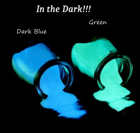 Blue / Green Glow in the Dark Powder For Resin Crafts ,Jewelry and Nail art.
