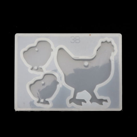 Hen Rooster Earring Pendant Silicone Mold /Animal molds For Resin Crafts and Jewellery Making