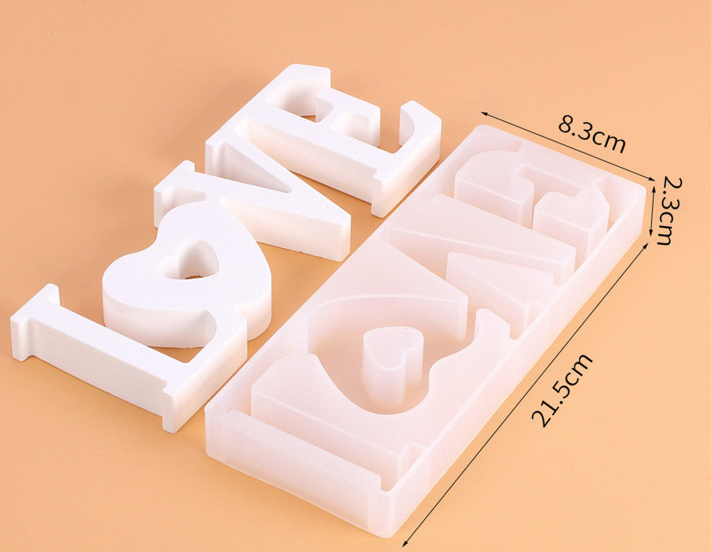 Valentine LOVE Word Letter Mold Mould for Baking,Cake,Chocolate,Clay and Resin crafts