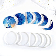Crescent Phases of the Moon Silicone Mould for Casting with Resin, Epoxy and Concrete