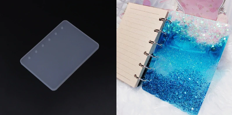 14.3*10cm Silicone Notebook A6 Mold for Making Book covers .DIY Crafts !