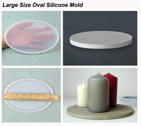 Large Oval Silicone Mold For Resin and Cement Crafts