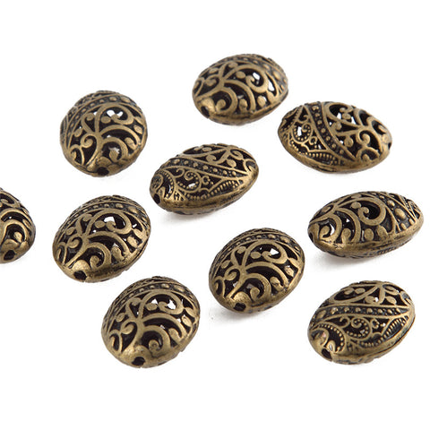 Antique Bronze Designer Spacer /Connector Beads .Sold as 10 pieces -CO2