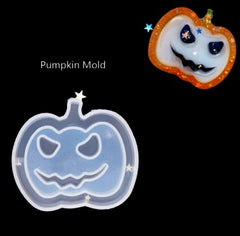 Pumpkin Shaker Key Chain Charms Silicone Mold- DIY Jewelry Craft Tool