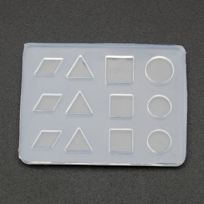 Geometric Round Square DIY Stud Earrings Silicone Resin Mold for Resin Crafts and Jewellery Making