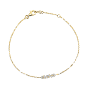 "Yellow Gold & Diamond ""Trinny"" Bracelet - Gemma Stone Jewellery"