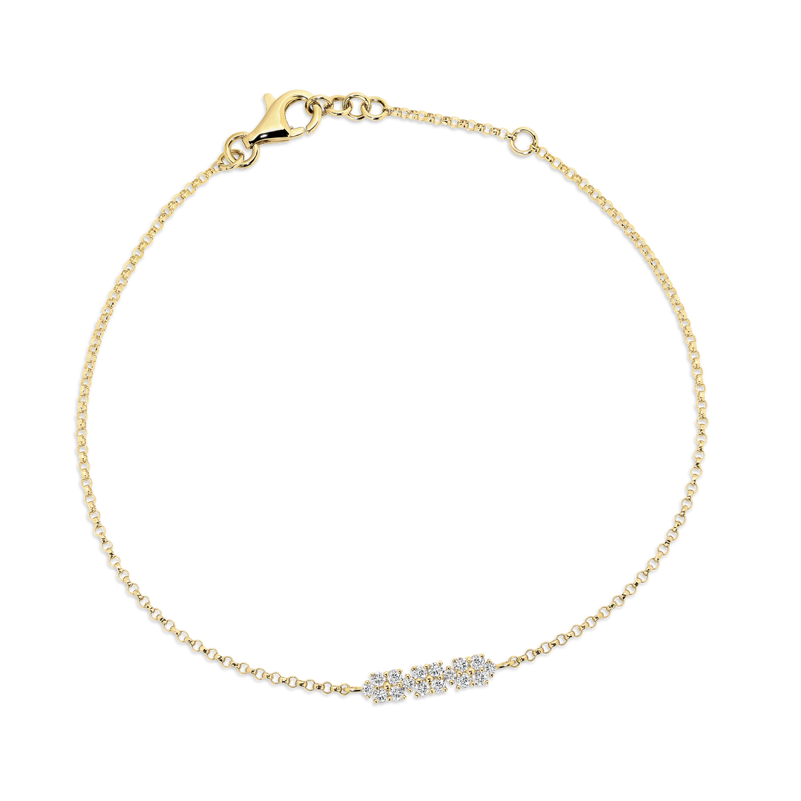 Yellow Gold & Diamond Flower Fine Bracelet - Gemma Stone  ABN:51 621 127 866