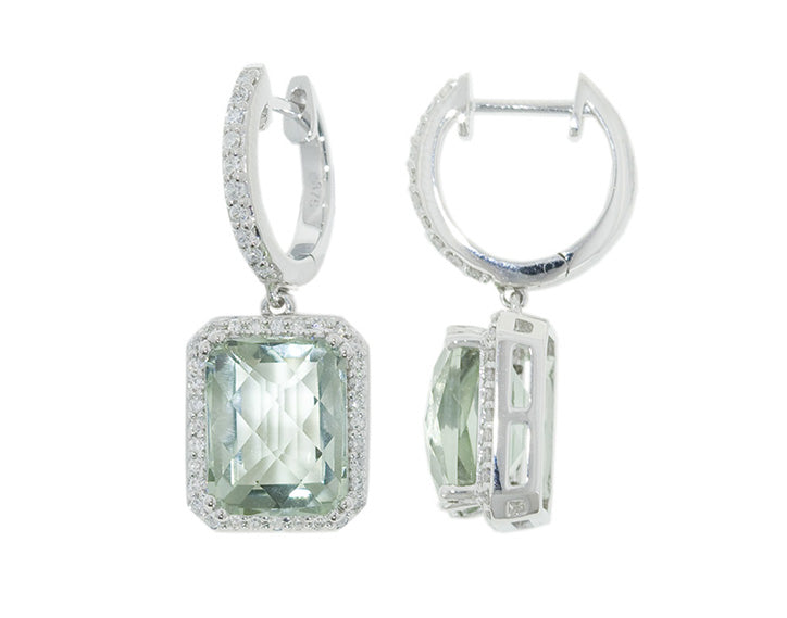 Green Amethyst & Diamond 'Maeve' Earrings - Gemma Stone  ABN:51 621 127 866